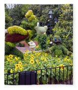Flower And Garden Signage Walt Disney World Fleece Blanket