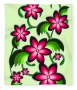 Flower Arrangement Fleece Blanket