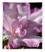 Flower--azalea-white-pink Fleece Blanket
