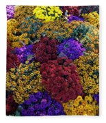 Flower Bed Across The Street From The Grand Palais Off Of Champs Elysees  Fleece Blanket