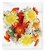 Flower Bouquet Fleece Blanket