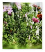 Flower Bouquet Fleece Blanket