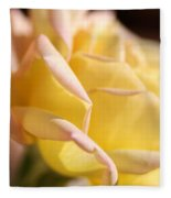 Flower-bright Yellow-rose With Pink Fleece Blanket