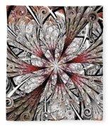 Flower Carving Fleece Blanket