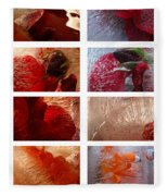 Flower Collage Vertical Fleece Blanket