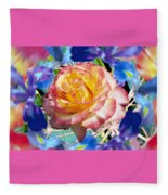 Flower Dance 2 Fleece Blanket