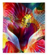 Flower Fire Power Fleece Blanket