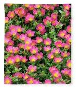 Flower Garden 36 Fleece Blanket