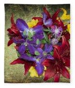 Flower - Garden Joy - Luther Fine Art Fleece Blanket