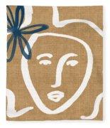 Flower Girl Fleece Blanket