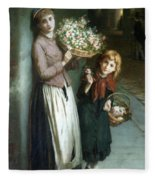 Flower Girls A Summer Night Fleece Blanket