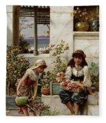 Flower Girls Fleece Blanket