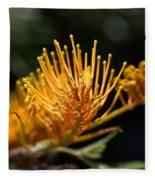 Flower-grevillea-australian Native Fleece Blanket