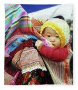 Flower Hmong Baby 04 Fleece Blanket