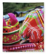 Flower Hmong Baby 05 Fleece Blanket