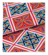 Flower Hmong Embroidery 02 Fleece Blanket