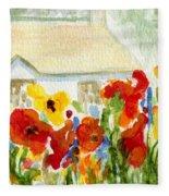 Flower House Fleece Blanket