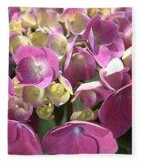 Flower-hydrangea Pink Fleece Blanket