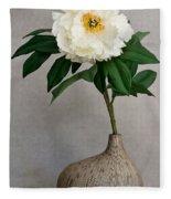 Flower In Vase Fleece Blanket