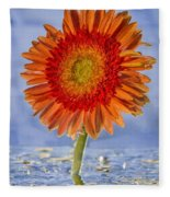 Flower In Water Fleece Blanket