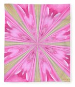 Flower Kaleidoscope Fleece Blanket