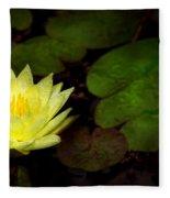 Flower - Lily - Morning Showers Fleece Blanket