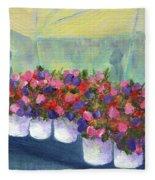Flower Market Fleece Blanket