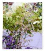 Flower Market Ile De La Cite Fleece Blanket