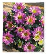 Flower Of Fall Fleece Blanket