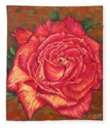 Flower Of Love Fleece Blanket
