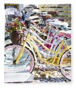 Flower On A Bicycle 2 Fleece Blanket