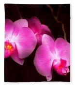 Flower - Orchid - Better In A Set Fleece Blanket