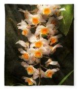 Flower - Orchid - Dendrobium Orchid Fleece Blanket