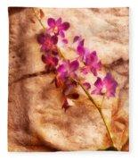 Flower - Orchid - Just Splendid Fleece Blanket