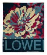 Flower Poster Fleece Blanket