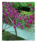 Flower Pot 2 Fleece Blanket