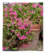 Flower Pot Fleece Blanket