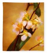 Flower - Sakura - A Touch Of Spring Fleece Blanket