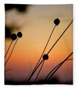 Flower Silhouettes I Fleece Blanket