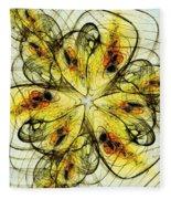 Flower Sketch Fleece Blanket