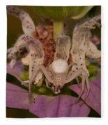 Flower Spider On Horsemint #2 Fleece Blanket