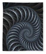 Flower Spiral Fleece Blanket