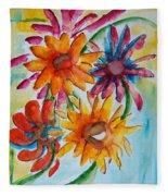 Flower Splash Fleece Blanket