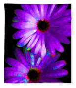 Flower Study 6 - Vibrant Purple By Sharon Cummings Fleece Blanket