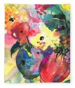 Flower Symphony 03 Fleece Blanket