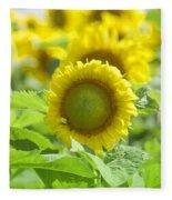 Flower - Texas Sunflower Field 1 - Luther Fine Art Fleece Blanket