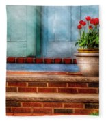 Flower - Tulip - A Pot Of Tulips Fleece Blanket