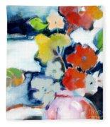 Flower Vase No.1 Fleece Blanket