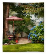Flower - Westfield Nj - Private Paradise Fleece Blanket