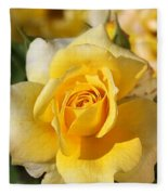 Flower-yellow Rose-delight Fleece Blanket